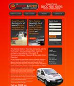 carpet oven cleaning website design