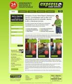 express home services website design