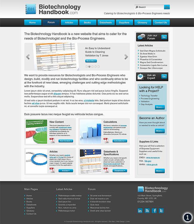 biotechbology handbook home page visual 1 sky blue dark grey