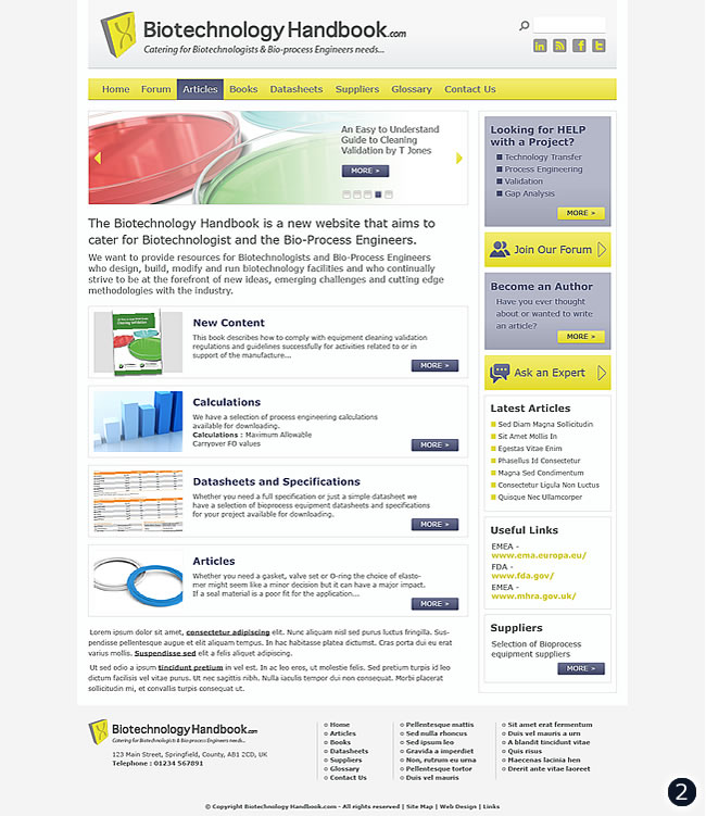 biotechbology handbook home page visual 2 pale yellow light grey