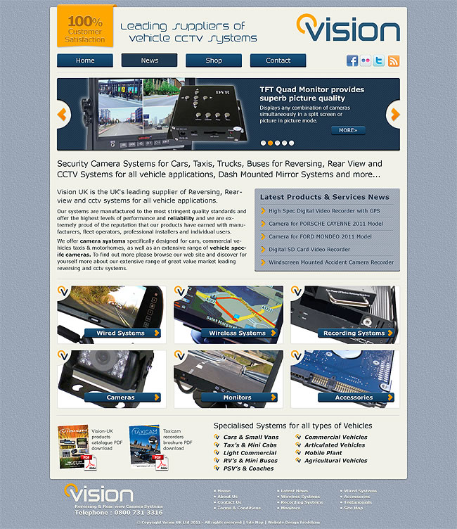 vision uk website design