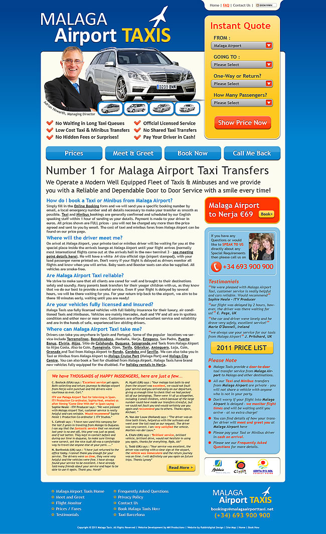 Malaga Airport Taxis Home Page