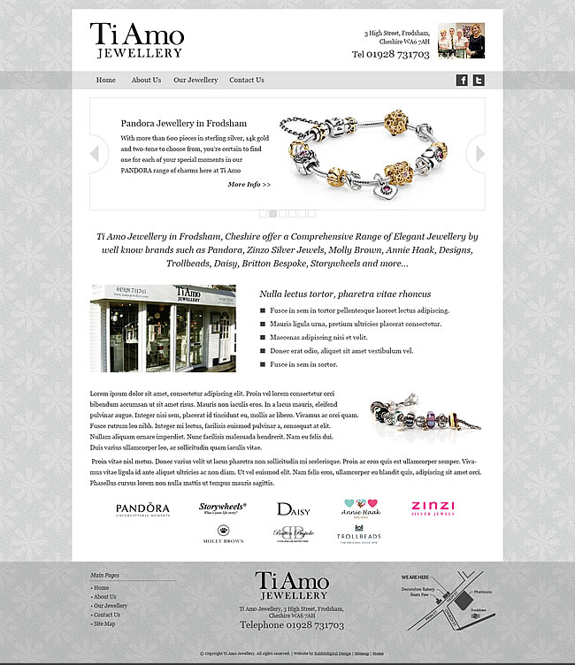 ti amo website home page