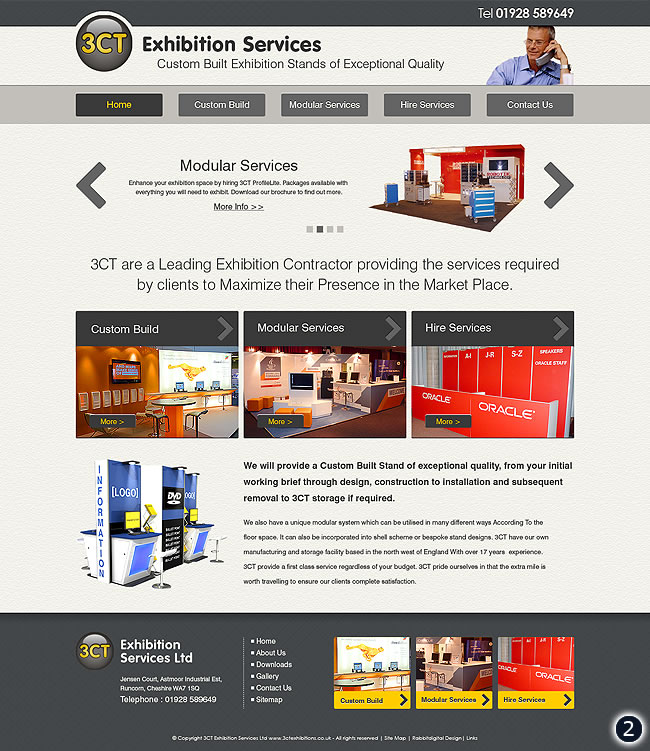 Full screen width floating content design