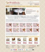sleigh beds furniture shop website design