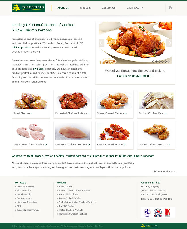 corporate website design home page