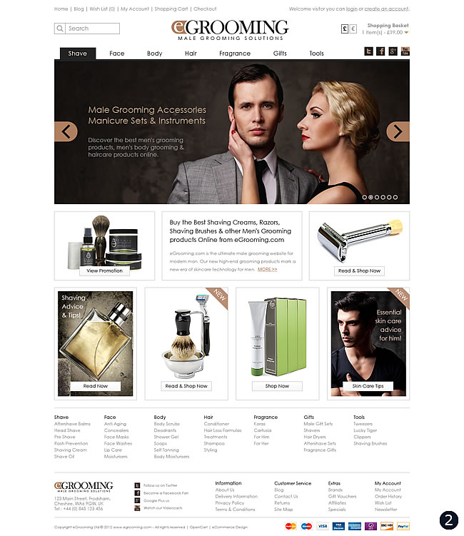 elegant tan colour ecommerce design
