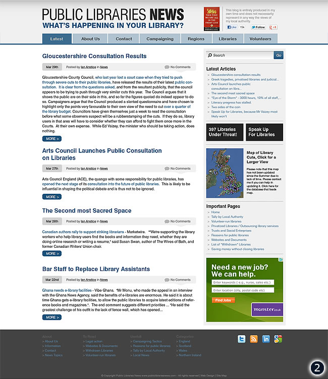 cms design public libraries news option 2