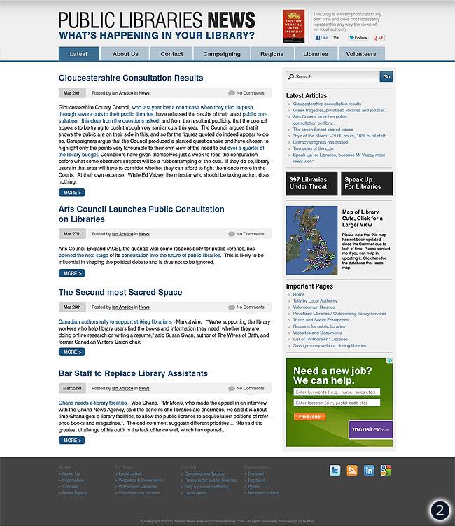 cms design public libraries news option 2