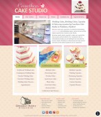 cake shop website design with pink header