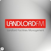 landlordfm red block logo design