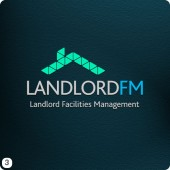landlordfm diamond roof logo design