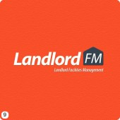 landlordfm orange bk logo design