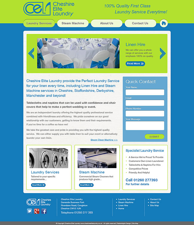 Laundry company website design cheshire elite laundry for Best home remodeling websites