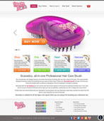 hair brush website design with clean white background