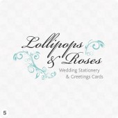 wedding stationery script logo floral design