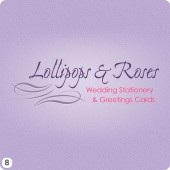 wedding stationery logo purple pink