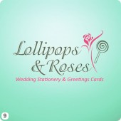 wedding stationery logo design pale green pink