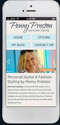 penny preston iphone responsive website design