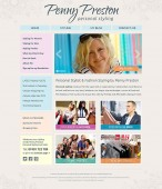 penny preston personal styling website design