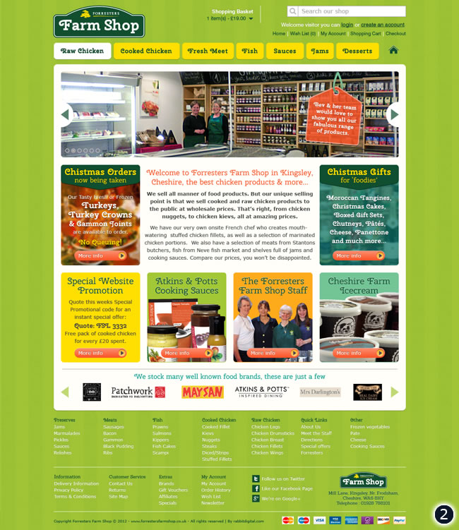 2 grass background farm shop ecommerce website design