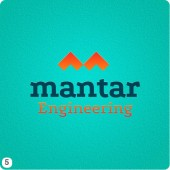 option mantar engineering logo design