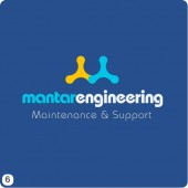 engineering logo design royal blue yellow white