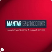 mantar engineering logo deep red background