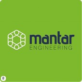 lime green background engineering logo design