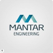 mantar engineering logo design light