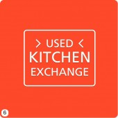 clean rust orange background logo design white outline