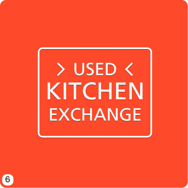 Used kitchen exchange elegant painted in frame used for Kitchen decoration logo