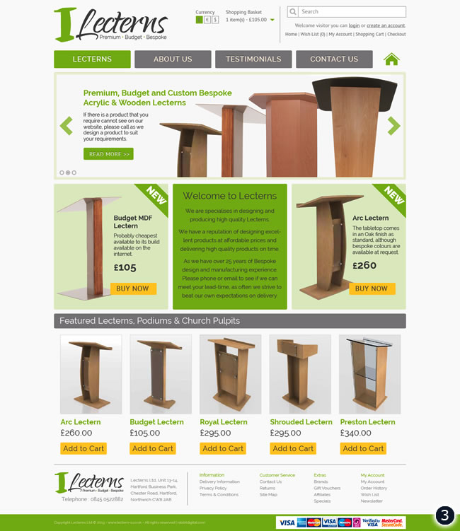 mint yellow grey lectern website design