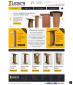 yellow dark grey lectern website design