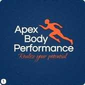 personal trainer logo design orange white blue