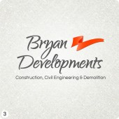 civil engineering company logo design orange grey