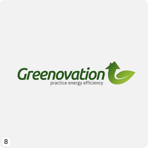 Green Construction Logo Design Light Grey Bg Dark Lettering