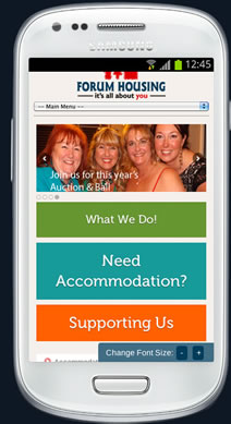 forum housing responsive website on samsung galaxy s3