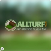 logo design for cheshire turf company blurred background