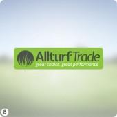 logo design for grass turf company light green dark grey lettering
