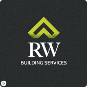 green roof ribbon effect building services logo design