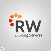 house icons arrangement building services logo