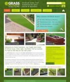 grass company website design