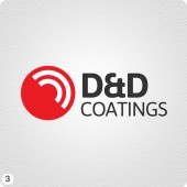 d and d logo design red dark gray lettering