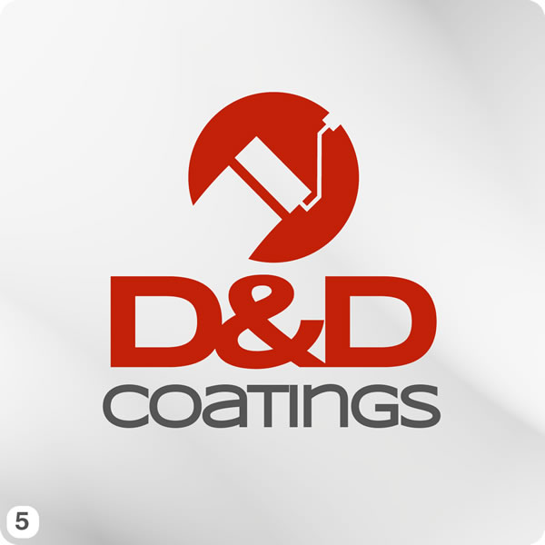 Painting Company Logo Design for D&D Coatings
