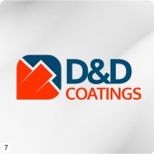 painting company logo design orange blue grey background