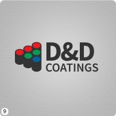 red green blue paint tins logo design