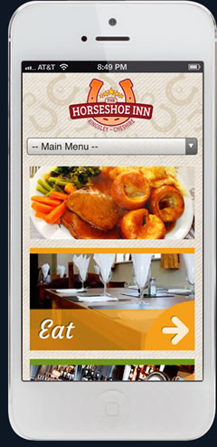 iphone mobile friendly pub website design