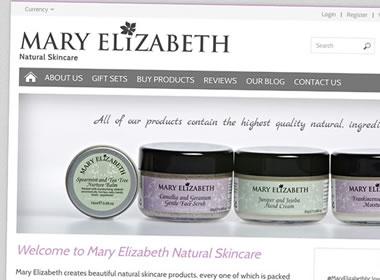 mary elizabeth ecommerce website design