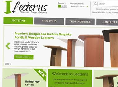 opencart ecommerce website design lecterns